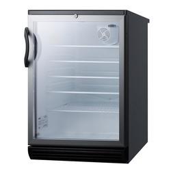 "Summit SCR600BGLBI 23 5/8"" W Undercounter Refrigerator w/ (1) Section & (1) Door, 115v"