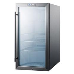 """Summit SCR486LCSS 19"""" W Undercounter Refrigerator w/ (1) Section & (1) Door, 115v"""