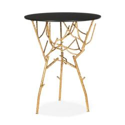 Safavieh Gold/Black Glass Tara Branched Glass Top Gold Accent Table