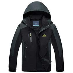 Mens Winter Coats Rain Jacket Windbreaker Men With Hood Spring Jacket Coat Tactical Jacket Softshell Jacket Lightweight Jacket Windbreaker Men