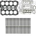 Head Bolts and Complete MAHLE Head Gasket Kit with Grade 'C' Head Gasket Kit - Fits GM Chevy Chevrolet LB7 Duramax 6.6 6.6L Diesel 2001-2004 - DK Engine Parts (Head Set Bolts)