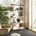 Safavieh Home Collection Rigby 5 Tier Etagere, Rustic Oak/Gold