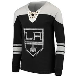 """Los Angeles Kings Youth Black/Gray Perennial Hockey Crew Sweatshirt"""