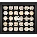 Sports Memorabilia Colorado Rockies (2017-Present) Logo Black Framed 30-Ball Display Case - Baseball Logo Display Cases