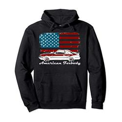 American Foxbody Muscle Car 5.0L Car Enthusiast Flag Pullover Hoodie