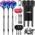 CyeeLife-90% Tungsten Soft tip Darts 20g|Dart toolExtra Flights&Tips|Alu shafts|with Carrying case|Professional Darts Set|CL05 Style