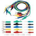 Akozon Banana Plug Kit 4mm Banana to Banana Plug Test Lead Kit Crocodile Clip & U-type Probe for Multimeter Power Supply and Electrical Equipment(P1036B)