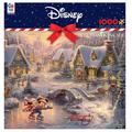 Disney's Mickey Mouse & Minnie Mouse 1000-piece Christmas Puzzle & Poster Set by Ceaco, Multicolor