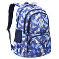JiaYou Girl Geometric Printed Primary Junior High University School Bag Bookbag Backpack(2# Blue,19 L)