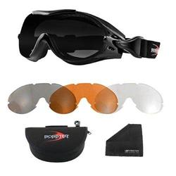 New Bobster Phoenix OTG Interchangeable Goggles 3 Lenses Replacement For Over RX Glasses