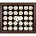 Sports Memorabilia Boston Red Sox (2009-Present) Logo Brown Framed 30-Ball Display Case - Baseball Logo Display Cases