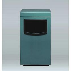 Allied Molded Products Amber 30 Gallon Trash Bin Gallon Capacity: 30 G, Configuration: Trash & Ash w/ Side Door, Fiberglass in Blue | Wayfair