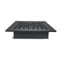 "Acorn 8"" x 10"" Iron Floor Register Trim in BlackIron in Gray, Size 10.0 H x 8.0 W in | Wayfair GL5BG"