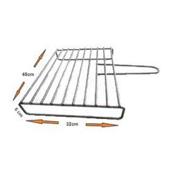 """Authentic Pizza Ovens 15.75"""" BBQ Grill for Wood Fire Oven, Size 2.5 H x 12.5 W x 15.75 D in 