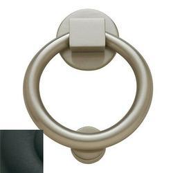 Baldwin Ring Door Knocker in Black, Size 5.5 H x 4.25 W in | Wayfair 0195.190