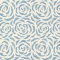 """Brewster Home Fashions Naturale Rosette 33' x 20.5"""" Rose 3D Embossed Wallpaper in Blue 