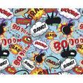 """East Urban Home 'Comic Pop 9.8' L x 94"""" W 6-Panel Wall Mural Comic Pop 9.8' L x 94"""" W 6-Panel Wall Mural in Semi-Gloss/Blue/Black, Size 94""""H X 118""""W"""