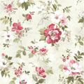 "Brewster Home Fashions Rosemore 33' x 20.5"" Amalia Garden 3D Embossed Wallpaper in White | Wayfair 2605-21636"
