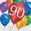 "Creative Converting Balloon Blast Birthday 6.5"" Napkins in Blue/Indigo/Red, Size 6.5 W x 6.5 D in | Wayfair DTC417818NAP"