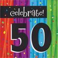 "Creative Converting Milestone Celebrations Birthday 6.5"" Paper Disposable NapkinsPaper in Black/Blue/Red   Wayfair DTC660583NAP"