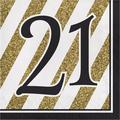 "Creative Converting Birthday 6.5"" Tissue Disposable Napkins in Black/Yellow   Wayfair DTC317538NAP"