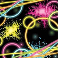 "Creative Converting Glow Party Beverage 5""s Paper Disposable NapkinsPaper in Black/Pink/Yellow   Wayfair DTC318128BNAP"