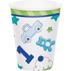 Creative Converting Doodle 1st Birthday Paper Disposable Cup Paper in Blue/White | Wayfair DTC331769CUP