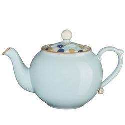 Denby Heritage Pavilion Teapot Stoneware/Terracotta in Blue, Size 5.0 H x 4.0 W x 5.0 D in   Wayfair PAV-091