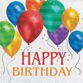 "Creative Converting Balloon Blast Birthday 6.5""s Tissue Disposable Napkins in Blue/Green/Red | Wayfair DTC661800NAP"