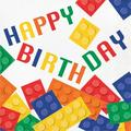 """Creative Converting Block Party Birthday 6.5""""s Tissue Disposable NapkinsPaper in Blue/Green/Red   Wayfair DTC102051NAP"""