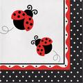 "Creative Converting Ladybug Fancy 6.5""s Paper Disposable NapkinsPaper in Black/White   Wayfair DTC665019NAP"