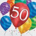 "Creative Converting Balloon Blast Birthday 6.5"" Napkins in Blue/Indigo/Red, Size 6.5 W x 6.5 D in | Wayfair DTC667850NAP"