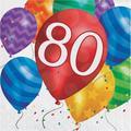 "Creative Converting Balloon Blast Birthday 6.5"" Napkins in Blue/Indigo/Red, Size 6.5 W x 6.5 D in   Wayfair DTC667880NAP"