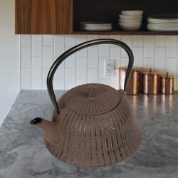 World Menagerie Knollview 1.25 -qt. Cast Iron Teapot Cast Iron in Brown/Gray, Size 5.4 H x 4.9 W x 4.9 D in | Wayfair