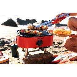 Cuisinart 1-Burner Propane Gas Grill Aluminum in Gray/Red, Size 10.75 H x 13.0 W x 16.25 D in   Wayfair CGG-750