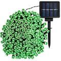 "Sol 72 Outdoor™ Santorini 68' Outdoor Solar Powered 200 - Bulb Wide Angle LED Mini String Light Bulb in Green, Size 68""D | Wayfair"
