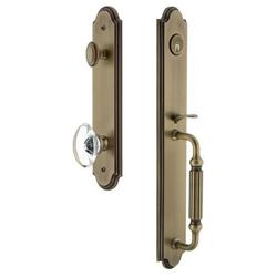 Grandeur Handleset w/ Single Cylinder Deadbolt and Provence Door Knob and Rosette in Yellow, Size 19.0 H x 3.0 W x 3.0 D in | Wayfair 844306