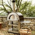 Forno Venetzia Stainless Steel Freestanding Wood-Fired Pizza OvenSteel in Brown/Gray, Size 77.0 H x 58.5 W x 30.25 D in   Wayfair FVP500C