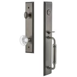 Grandeur Handleset w/ Single Cylinder Deadbolt and Door Knob and Rosette in Gray, Size 19.0 H x 3.0 W x 3.0 D in | Wayfair 842202