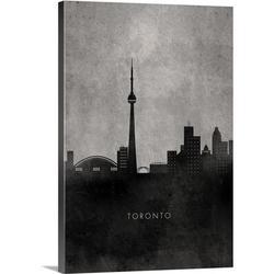 17 Stories 'Minimalist Skylines Toronto by Kate Lillyson Print in White, Size 36.0 H x 24.0 W x 1.5 D in   Wayfair 1823552_1_24x36