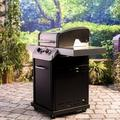 Char-Broil Signature 2-Burner Propane Gas Grill w/ Cabinet Stainless Steel in Gray, Size 46.3 H x 45.9 W x 27.6 D in | Wayfair 463675517