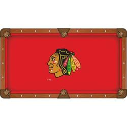 Holland Bar Stool NHL Pool Table Cloth, Size 112.0 H x 112.0 W in | Wayfair PCL9ChiHwk