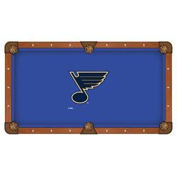 Holland Bar Stool NHL Pool Table Cloth in Blue, Size 112.0 H x 112.0 W in   Wayfair PCL9STLBlu