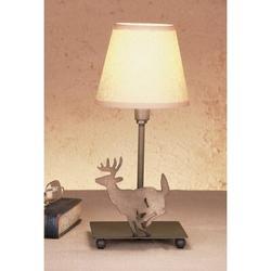 "Meyda Tiffany Lone Deer 13"" Table Lamp in Brown/Gray, Size 13.0 H in   Wayfair 50612"