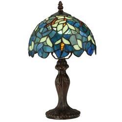 """Meyda Tiffany Nightfall Wisteria 14"""" Table Lamp Metal in Brown/Gray, Size 14.0 H x 8.0 W x 8.0 D in   Wayfair 124812"""