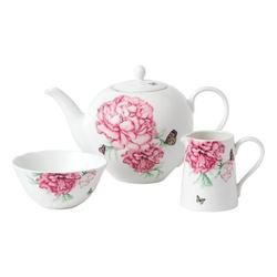 Royal Albert Everyday Friendship Porcelain China Tea For One Set Porcelain China/Ceramic in Pink/White, Size 6.3 H x 6.3 W x 10.2 D in | Wayfair
