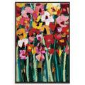 Red Barrel Studio® 'Blooms 2' Print Canvas & Fabric in Brown/Green/Red, Size 31.5 H x 21.5 W x 2.0 D in   Wayfair 9989D42AA5AF49C3BDED7C6C9AE7FD30