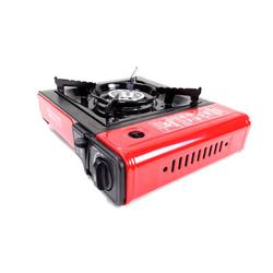 Tectron Portable 1-Burner Butane Outdoor Stove in Black/Red, Size 12.0 H x 12.75 W x 4.0 D in | Wayfair HW006