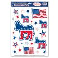 The Holiday Aisle® Patriotic Democratic Peel 'N Place Sticker Set in Blue/Red   Wayfair THLA1354 39060293