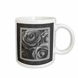 East Urban Home Pewter Roses Surrounded Coffee Mug Ceramic in Black/Brown/Gray, Size 4.65 H x 4.9 W in   Wayfair 35C78215A2CC4F30AC222A544E404A8E